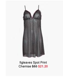 figleaves boudoir Spot Print Chemise was $53 now $21.20