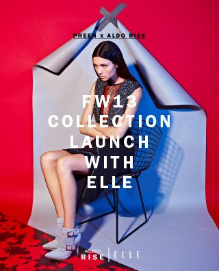 PREEN X ALDO RISE FW13 COLLECTION LAUNCH WITH ELLE