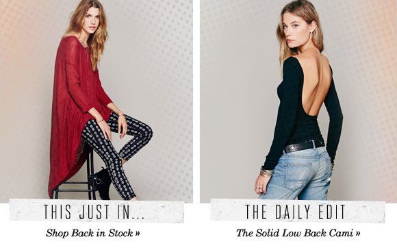 The Daily Edit: The Solid Low Back Cami...