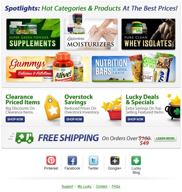 Connect with LuckyVitamin.com