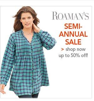 Shop Roamans Semi-Annual Sale