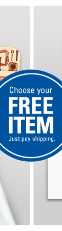Choose your FREE ITEM - Just pay shipping.