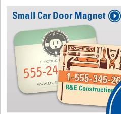 Small Car Door Magnet - Order Now