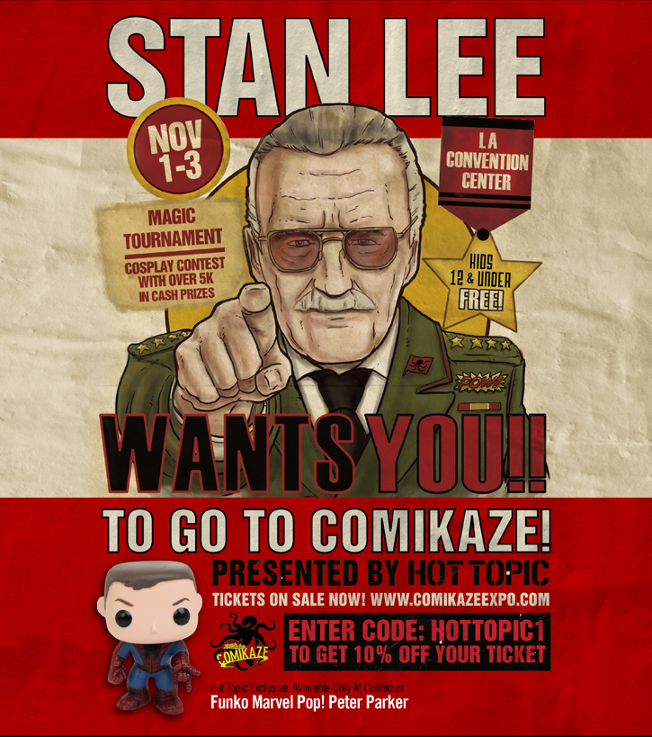 STAN LEE WANTS YOU!! TO GO TO COMIKAZE!
