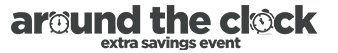 around the clock extra savings event