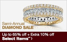 Semi-Annual Diamond Sale - Up to 65% off + Extra 10% off Select Items**