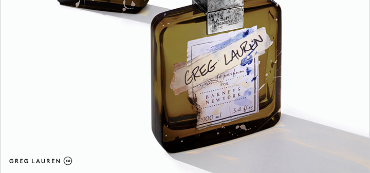 An evocative scent in a hand-painted bottle: Shop the Greg Lauren fragrance now.