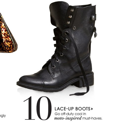 10. LACE–UP BOOTS