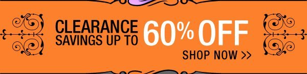 Clearance Savings up to 60% Off