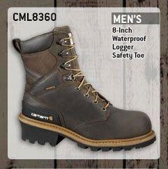 Men's 8-inch Waterproof Logger/Safety Toe