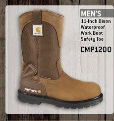 Men's 11-inch Bison Waterproof Work Boot/Safety Toe