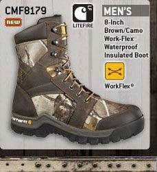 Men's 8-inch Brown/Camo Work-Flex Waterproof Insulated Boot