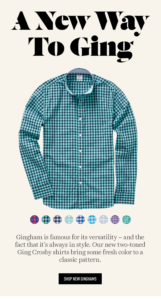 New Gingham Shirts