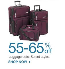 55-65% off Luggage sets. Select styles. SHOP NOW