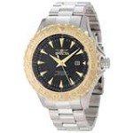 Invicta 12556 Men's Pro Diver Ocean Ghost Gold Tone Bezel Steel Bracelet Watch