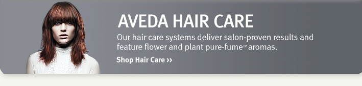 aveda hair care. shop hair care.