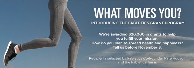 Introducing the Fabletics Grant Program