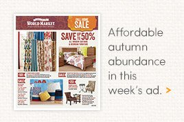 Affordable Autumn Abundance in this week's ad