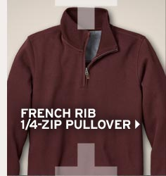 Shop Men's French Rib 1/4 Zip Pullover