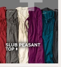 Shop Slub Peasant Top