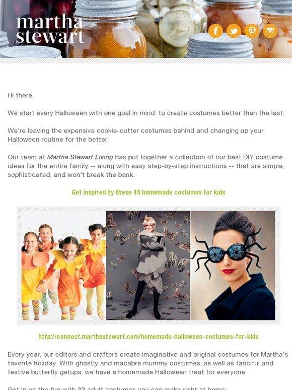 Martha Stewart Dozens Of Diy Halloween Costumes For Everyone Milled
