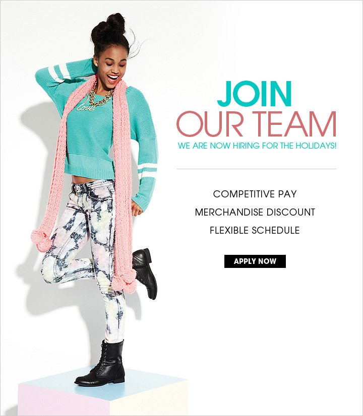 Join Our Team - We are now hiring for the holidays!