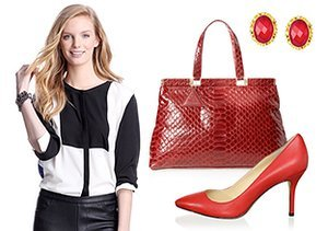 Timeless Style: Red, White & Black