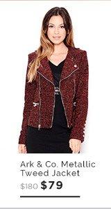 Ark & Co. Metallic Tweed Jacket $79