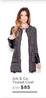 Ark & Co. Multi-Color Tweed Coat $85