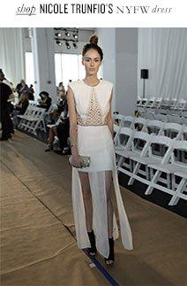 shop NICOLE TRUNFIO'S NYFW dress