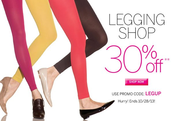 30% off Sculptz Control Top Opaque Leggings. Grab a pair of your favorite color today. Use Promo Code LEGUP for discount to apply. Plus receive free standard shipping on all orders of $40 or more.