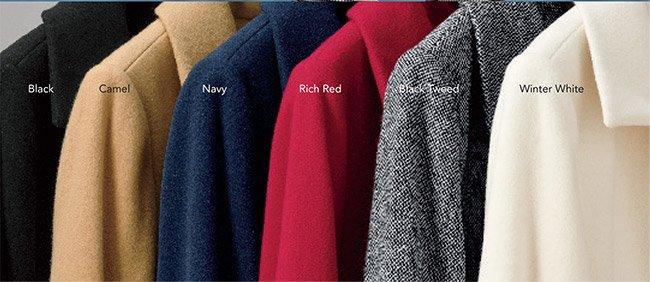 Wool-blend coat in 6 colors