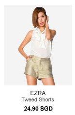 EZRA Tweed Shorts