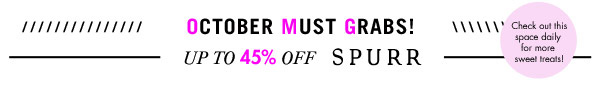 OMG Up to 45% off Spurr