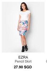 EZRA Pencil Skirt