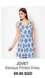 JOVET Baroque Printed Dress