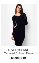 RIVER ISLAND Navy Paisley Textured Column Dress