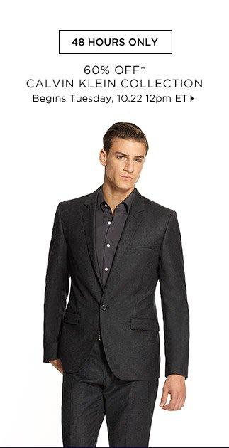 60% Off* Calvin Klein Collection...Shop Now