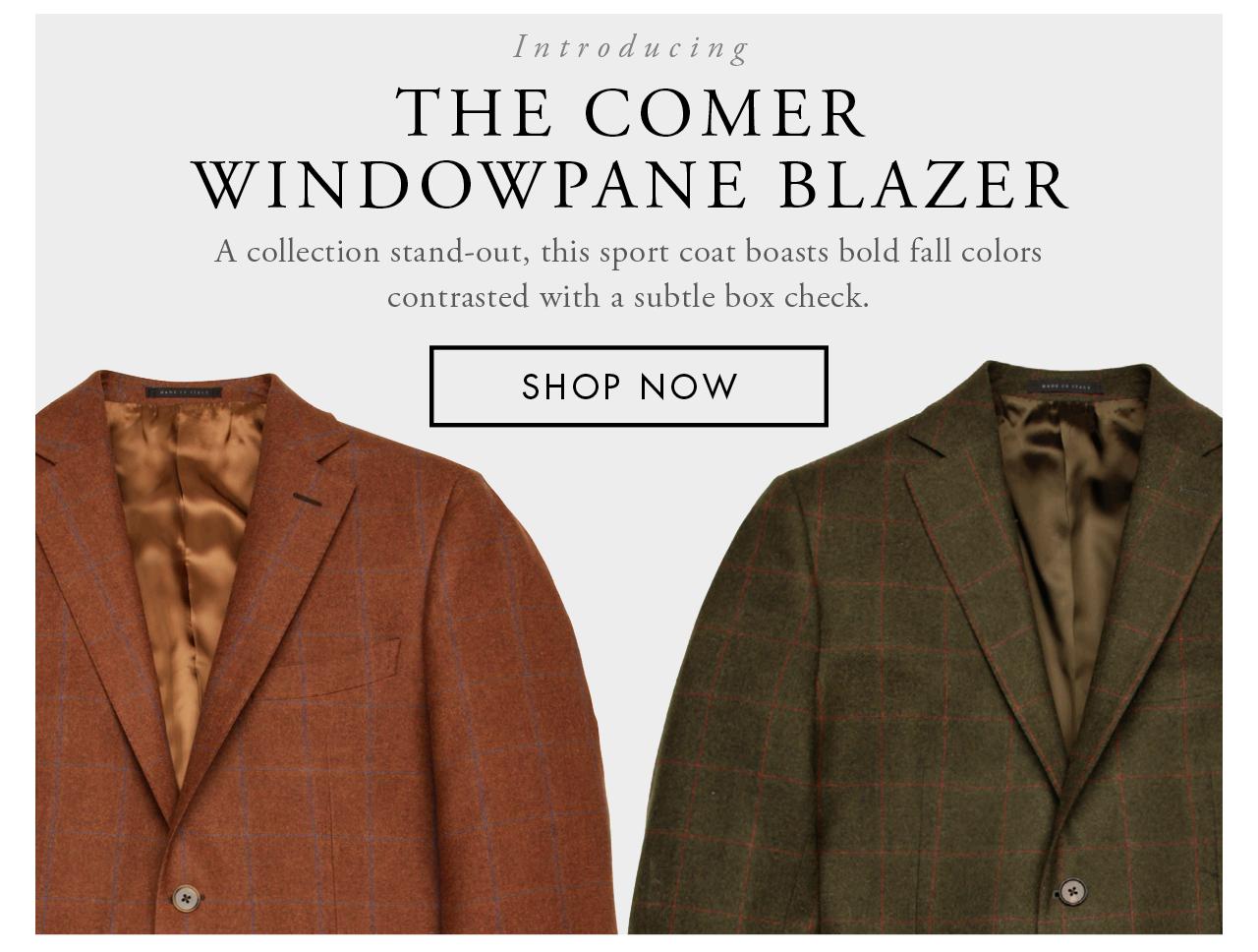 The Comer Windowpane Blazer