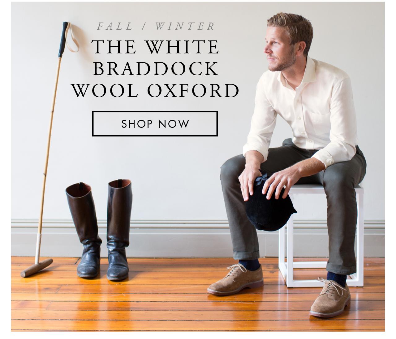 The White Braddock Wool Oxford