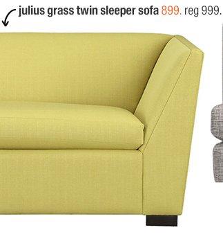 julius grass twin sleeper sofa 899. reg  999.