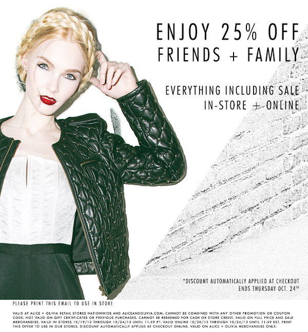 Friends + Family Enjoy 25% Off