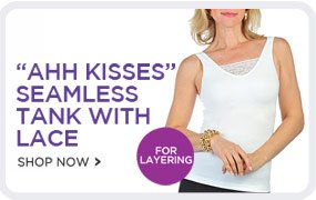 Ahh Kisses Seamless Tank with Lace - Shop Now!
