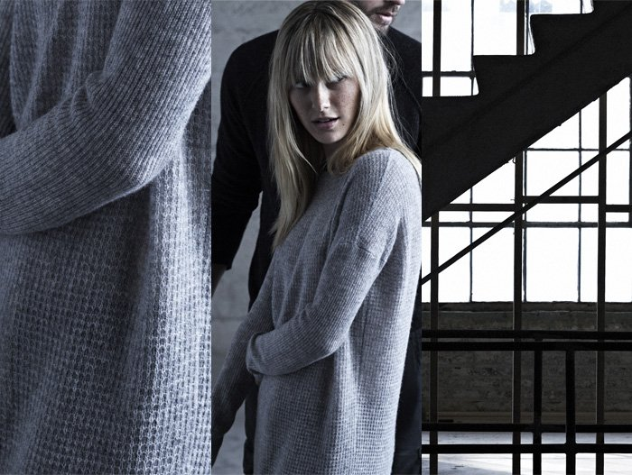 JAMES PERSE LOS ANGELES - CASHMERE THERMAL STITCH