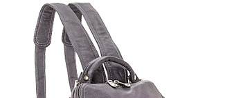 Shop Le Donne Leather U Zip Mid Size Backpack/Purse