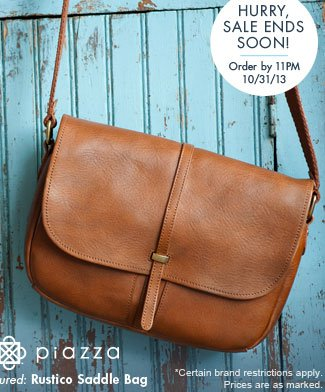 Shop Piazza Rustico Saddle Bag