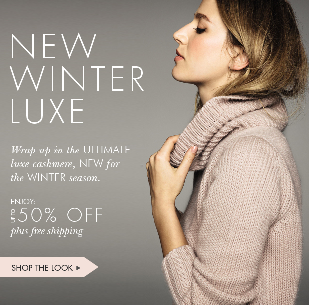Download Images:  Shop New Winter Luxe with up to 50% off & free shipping