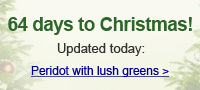 Peridot with lush greens