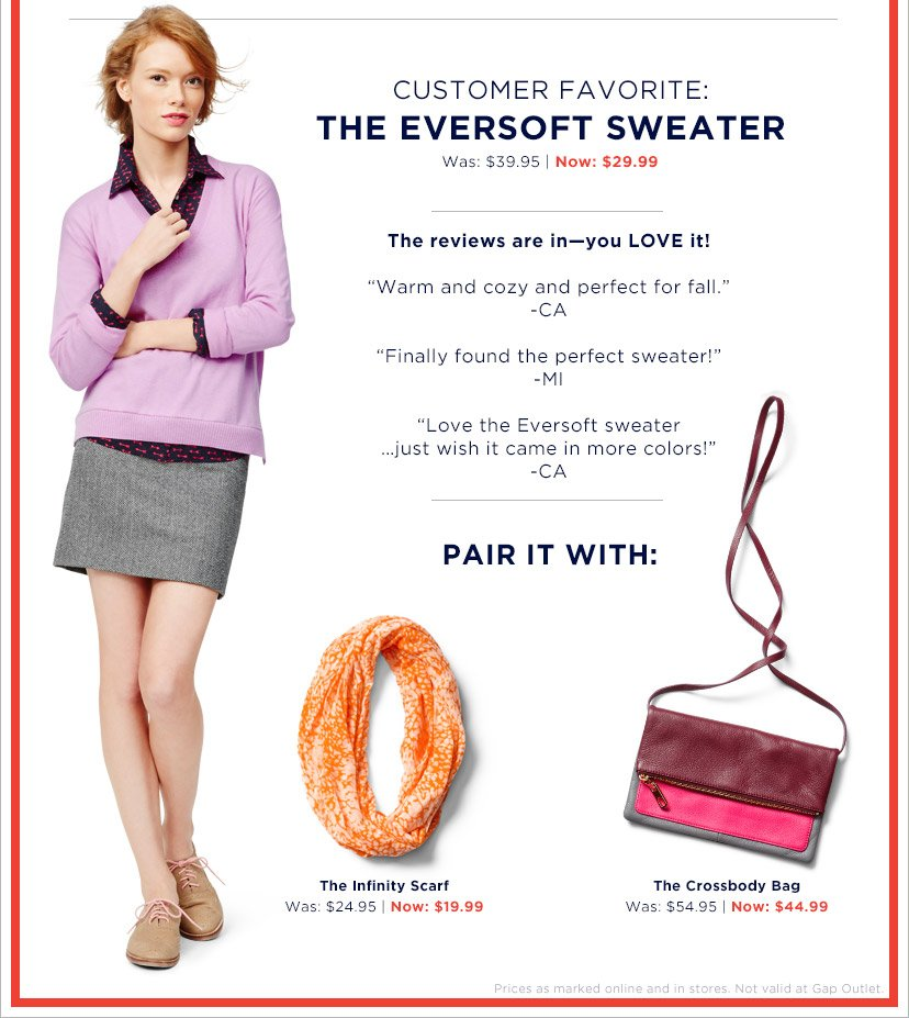CUSTOMER FAVORITE: THE EVERSOFT SWEATER