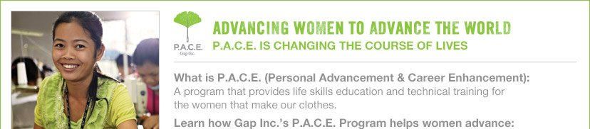 ADVANCING WOMEN TO ADVANCE THE WORLD | P.A.C.E. IS CHANGING THE COURSE OF LIVES